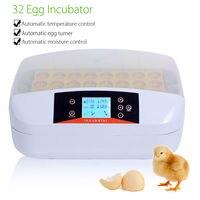32 Digital Egg Incubator Hatcher Temperature Control Automatic Chicken Poultry