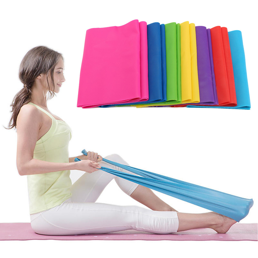 Newly 2M Resistance Bands Body Shaping Stretch Exercises Yoga Gymnastics Ballet Beautiful Curve FMS19