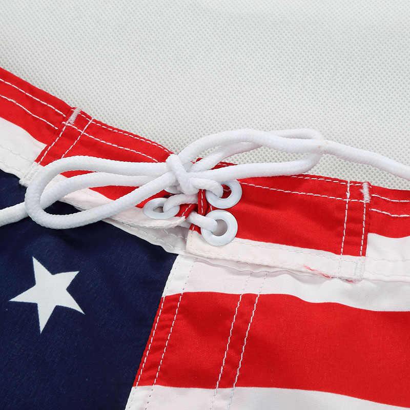 חדש חוף מכנסיים קצרים לגלוש בנים לוח קצר מותאם אישית בגד ים פנטגרם ילדי ספורט ללבוש אמריקאי דגל 7-14yrs לוח מכנסיים קצרים