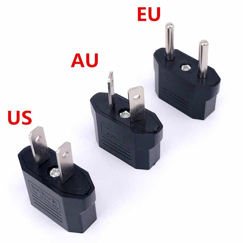 1 sztuk europejski US AU ue wtyczki zasilacza amerykański japonia chiny usa do ue Euro podróży zasilacz wtyczka konwerter gniazdo