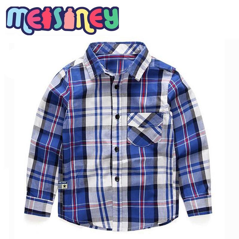 Shirt met lange mouwen en geruite - Kinderkleding - Foto 1