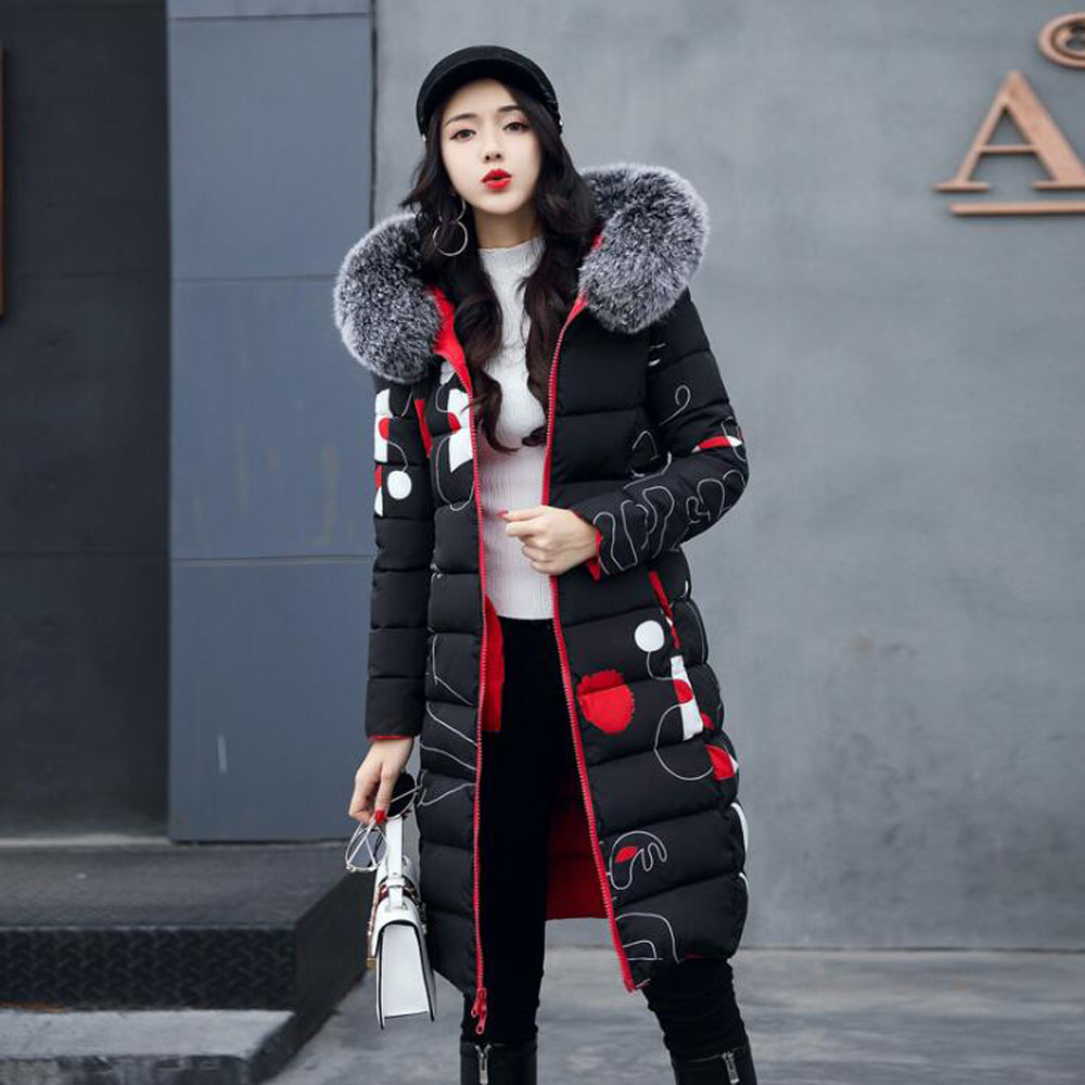 JKKUCOCO New Cotton Jacket Fashion Slim Thicken Two Sides Can Warm Well Women Winter Jacket Hooded