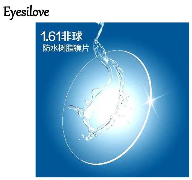 Eyesilove dostosowane indeks 1.61 soczewki korekcyjne bardzo cienkie asferyczne CR39 żywica okulary soczewki krótkowzroczność soczewki