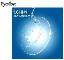 Eyesilove index 1.61 prescription glasses lenses/ extra thin aspheric HC TCM UV resin eyeglasses lenses for myopia