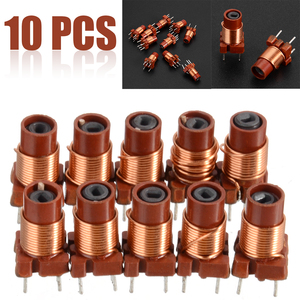 10pcs Adjustable Inductor 12T 0.6uh-1.7uh Adjustable High-Frequency Ferrite Core Inductor Coil