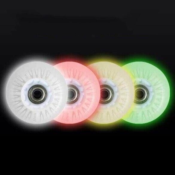 Prix pour Flash Rouleau Roues LED Lumière Coulissante Skate Roues 90A 72 76 80 8 Pcs/Lot Slalom de Freinage Roues SEBA Coloré LED Lumière