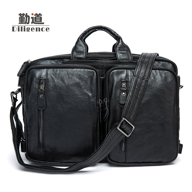 2017 New Arrival luxury vintage men handbag shoulder bags genuine leather bag men briefcase business large capacity men's travel