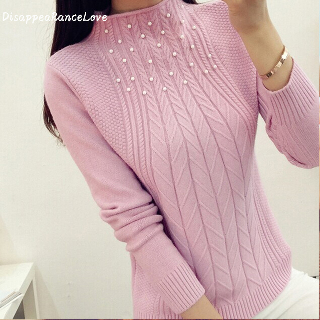 DisappeaRanceLove Brand Hot sale new 2016 autumn-winter all-match slim sweater women outerwear turtleneck female knitted sweater