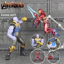 KO's SHF S.H.Figuarts 6″ Thanos Iron Man MK50 Action Figure Cosmic Cube Tesseract Marvel 2018 Avengers 3 Infinity War Toys Doll