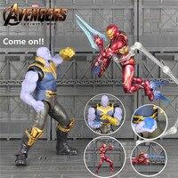 KO's SHF S.H.Figuarts 6 Thanos Iron Man MK50 Action Figure Cosmic Cube Tesseract Marvel 2018 Avengers 3 Infinity War Toys Doll