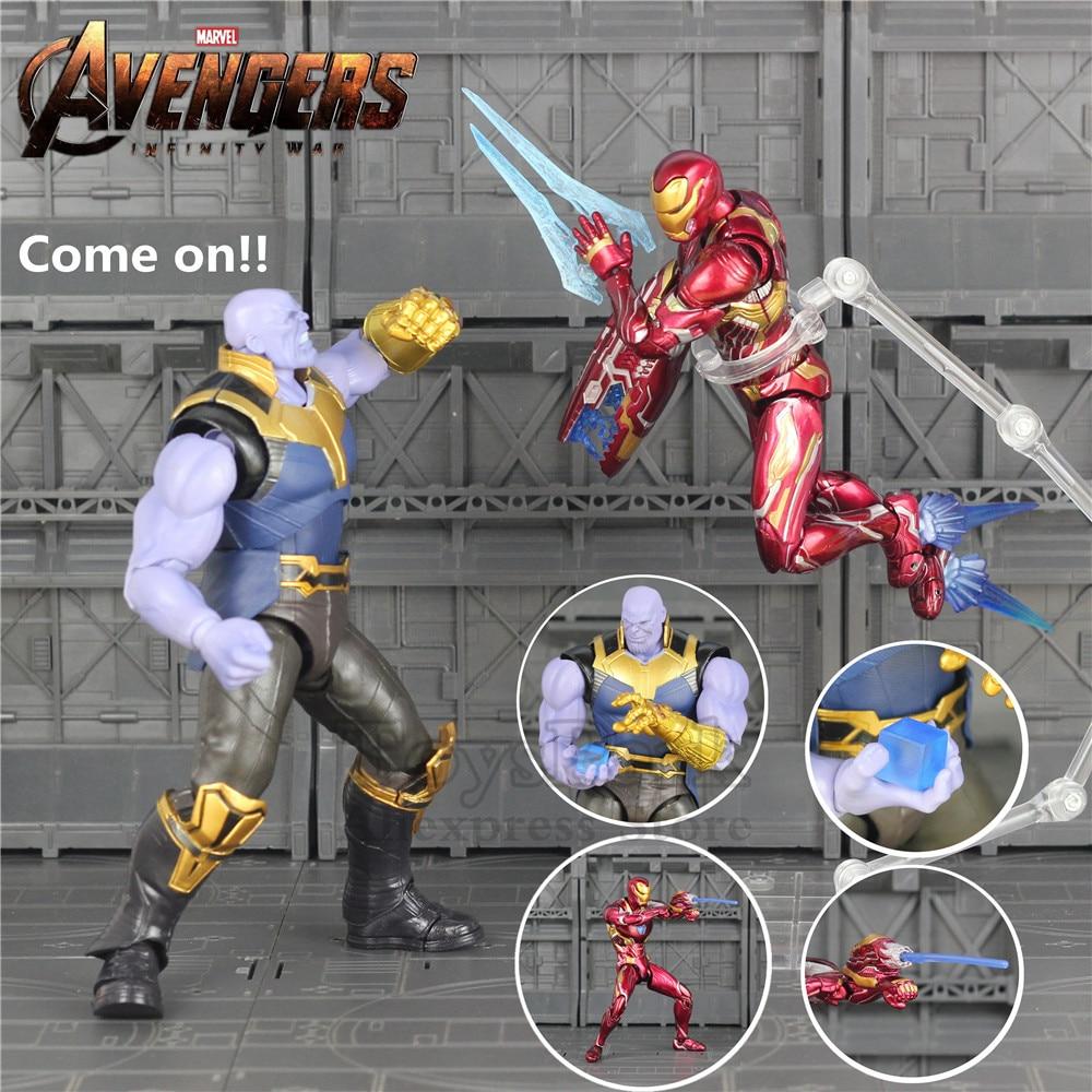 Marvel Avengers Infinity War Thanos SHF S.H.Figuarts Bandai KO Action Figure Toy