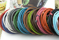 16 Colors Available--2 Yards 6.0mm Round Bolo Braided Real Leather Cord For Bracelet Making--LCB60