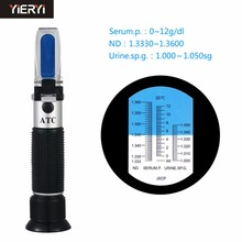 yieryi Handheld Medical Refractometer Hemoglobin Tester New Clinical Refractometer Urine Specific Gravity Test Equipment Medical(China)