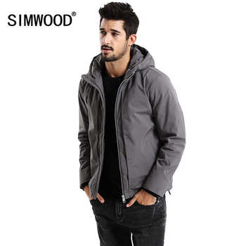 SIMWOOD New 2019 Winter Men Outerwear Plus Size Polyester Thick Fashion Jacket Men Casual Warm High Quality Brand Coats MD017002 - DISCOUNT ITEM  49% OFF All Category