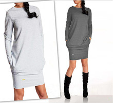 The new autumn and winter women long-sleeved dress Slim bottoming warm 2213 #