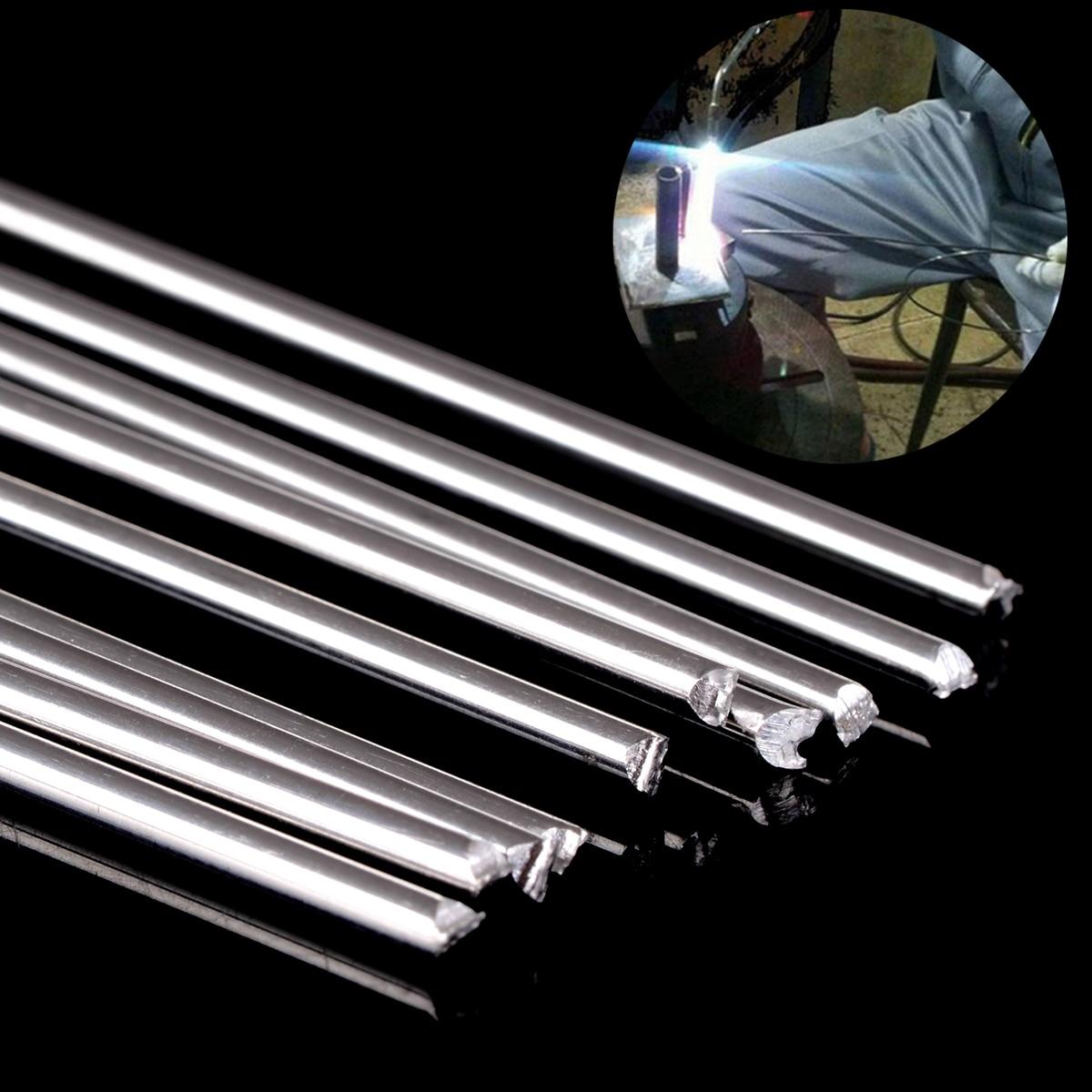 10pcs Metal Aluminum Welding Rods Low Temperature Silver Soldering Brazing Rod 1.6mmx45cm
