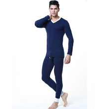 New seobean men's Long johns set thermal underwear long johns set basic underwear 100% cotton long johns set 4 colors M L XL
