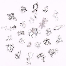 All Tibetan Silver Animal Charms for Jewelry Making DIY Penguin Dog Cat Components Bracelets Earrings