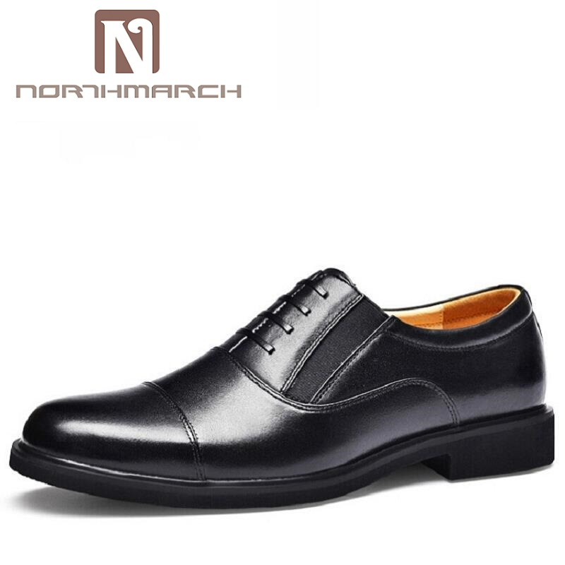 NORTHMARCH Gentlemen Hand-painted Genuine Leather Lace Up Black Oxfords Party Wedding Footwear Luxury Brand Men Dress ShoesNORTHMARCH Gentlemen Hand-painted Genuine Leather Lace Up Black Oxfords Party Wedding Footwear Luxury Brand Men Dress Shoes