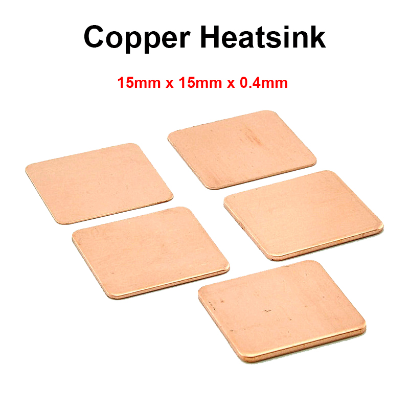 10pcs/lot 15x15x0.4mm DIY Copper Shim Heatsink thermal Pad Cooling for Laptop BGA CPU VGA Chip RAM IC Cooler Heat sink 5pcs lot pure copper broken groove memory mos radiator fin raspberry pi chip notebook radiator 14 14 4 0mm copper heatsink
