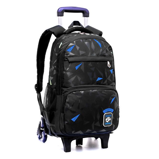 Grades 4-9 Kids Trolley Schoolbag Book Bags boys girls Backpack waterproof Removable Children School Bags With 6 Wheels Stairs