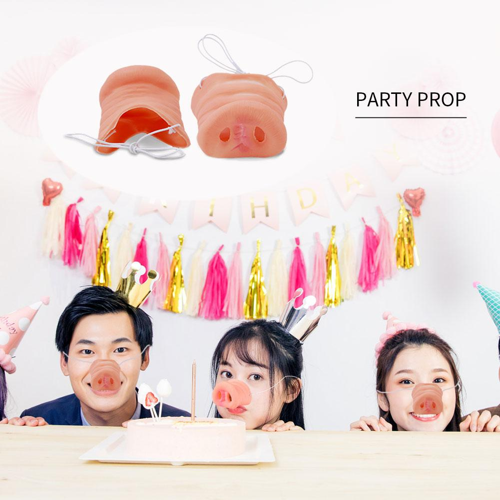 Halloween Rubber Pig Nose Costume Snout Adult Child Halloween Funny Tricks Mask