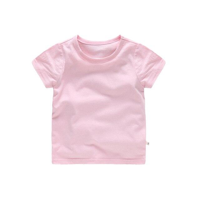 Summer Children Clothing Boys T-Shirt Cotton Short Sleeve T-shirt Infant Kids Boy Girls Tops Casual T-shirt 2-7Y tees 4018 29 2