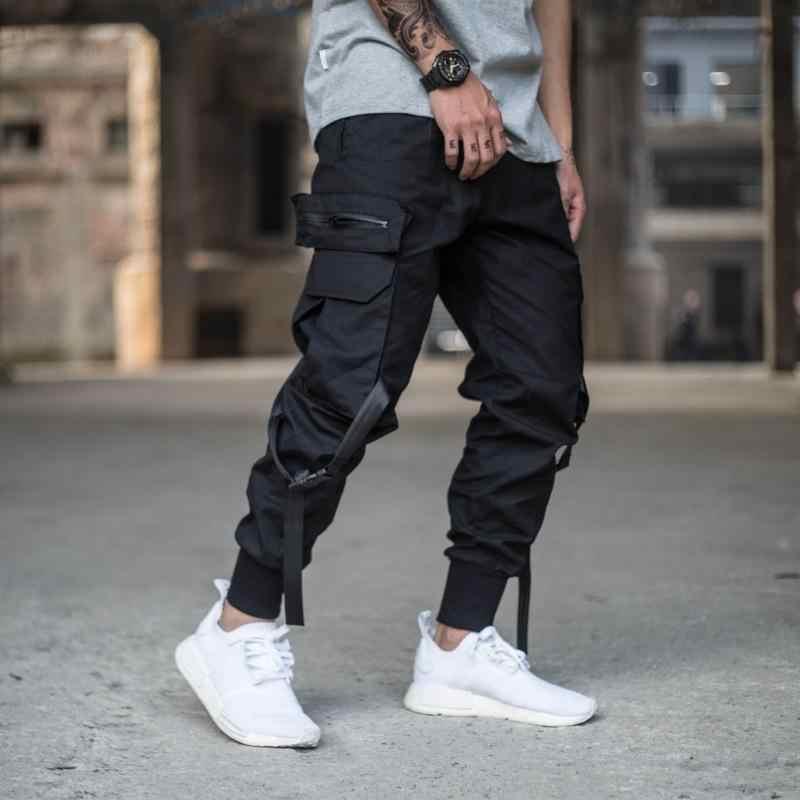 big selection super specials fair price Mens Multi-pocket Harem Pant Men Streetwear Punk Cargo Pant Hip Hop Casual  Trousers Joggers Male Black Pant