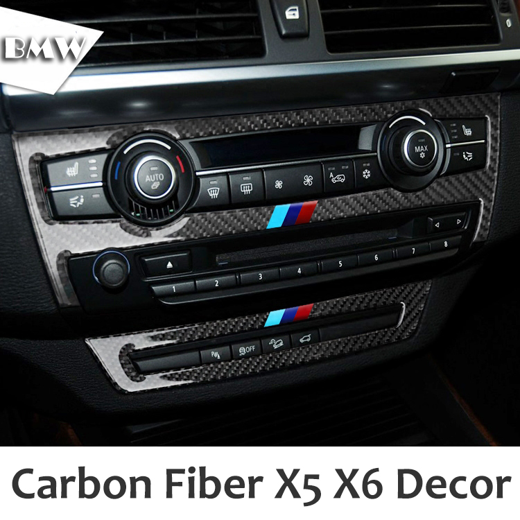 Carbon Fiber Car Ac Cd Control Decor Frame Gearshift Panel