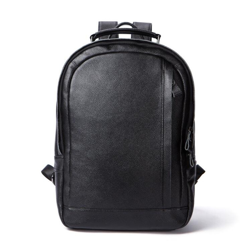 Noir En Sacs Cuir Sac Pour Marque Véritable Voyage École Dos Noirs Portable De Hommes À Ordinateur Adolescents Pgfwqa