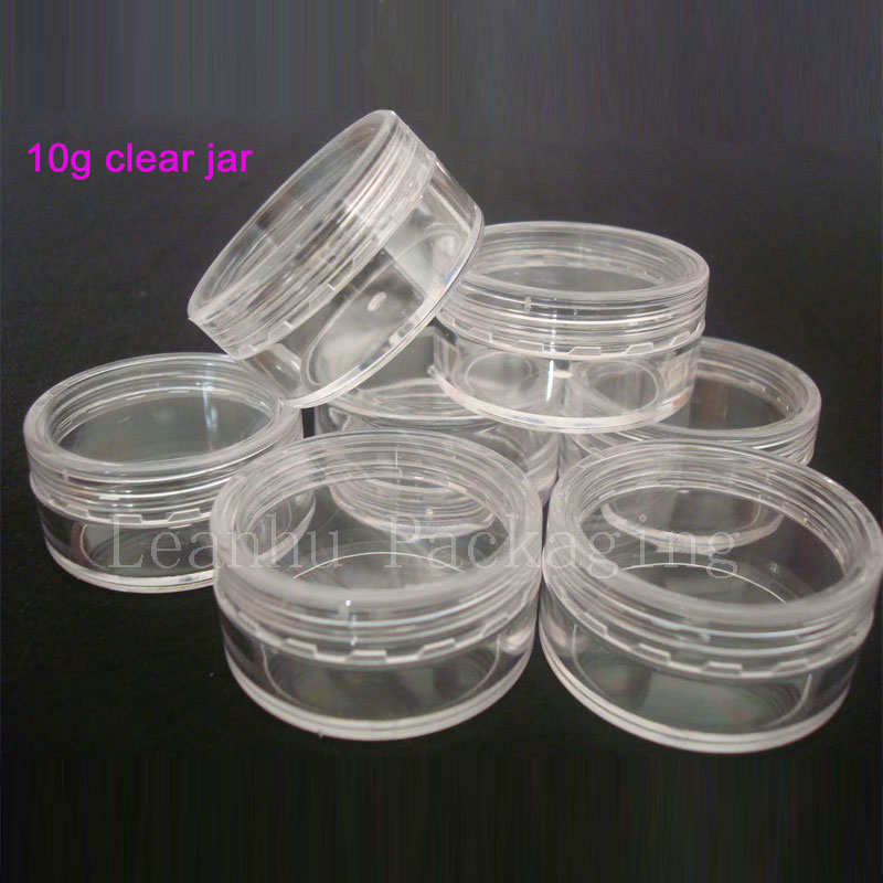10g X 100 empty small plastic bottle jars containers with transparent color for storage,clear cream tin for skin cream nail art 100 pcs lot of small glass vials with cork tops 1 ml tiny bottles little empty jars