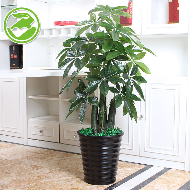 Fake Tree Stump Pachira Small Potted Plants Artificial Plants Tree View Living  Room Floor Office Plastic Decorative Flowers In Vegetable Washer Parts From  ...