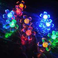 10m 100 LED Crystal Cherry String Lights Christmas New Year Garland Holiday Lighting Lamps Party Wedding