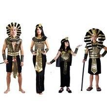 Halloween Per Adulti bambini Bambini Faraone Egiziano Costumi Cosplay di  travestimento costume faraone Egiziano Cleopatra reale 4dcac1a91e6
