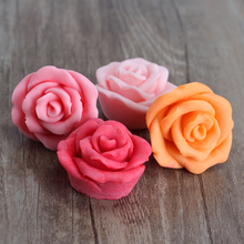 Nicole H0195 4-Cavity Rose Flower Shapes Silicone Soap Mold Craft Handmade Making Mould