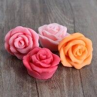 Nicole H0195 Khoang Rose Flower Shapes Silicone Khuôn Xà Phòng Craft Handmade Soap Làm Khuôn