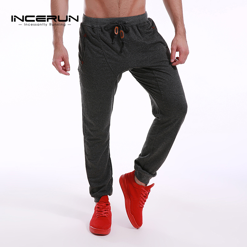 INCERUN Mens Slim Fit Sweatpants Casual Tracksuit Bottoms Men Bodybuilding Fitness Workout Pants Track Joggers Sporting Trousers