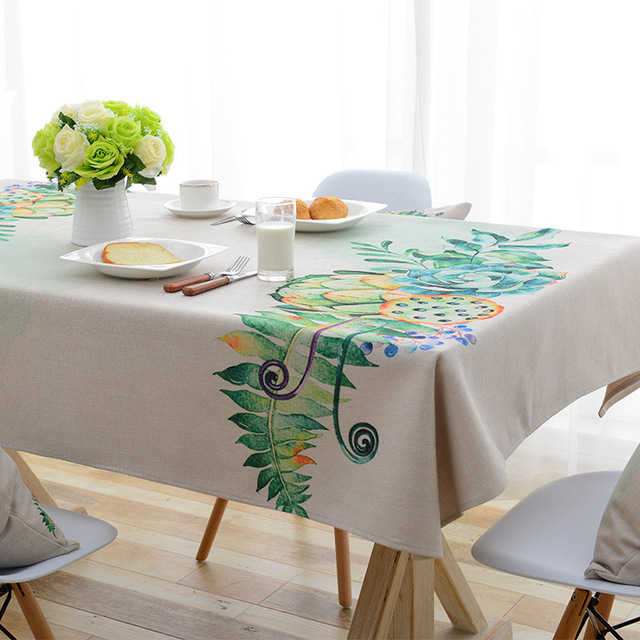 European Past Plants Fl Household Table Cloth Coffee Computer Round