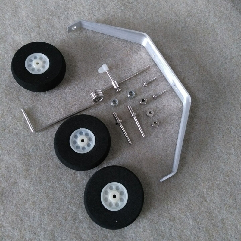 Aluminum Main Landing Gear Wheel Kit RC Airplane Cessna 182 (1200mm) Parts Replacement 40 Size ARF PNP free shipping free shipping rc airplane cessna 182 810mm small cessna remote control air plane model epo hobby airplanes frame kit aeromodel