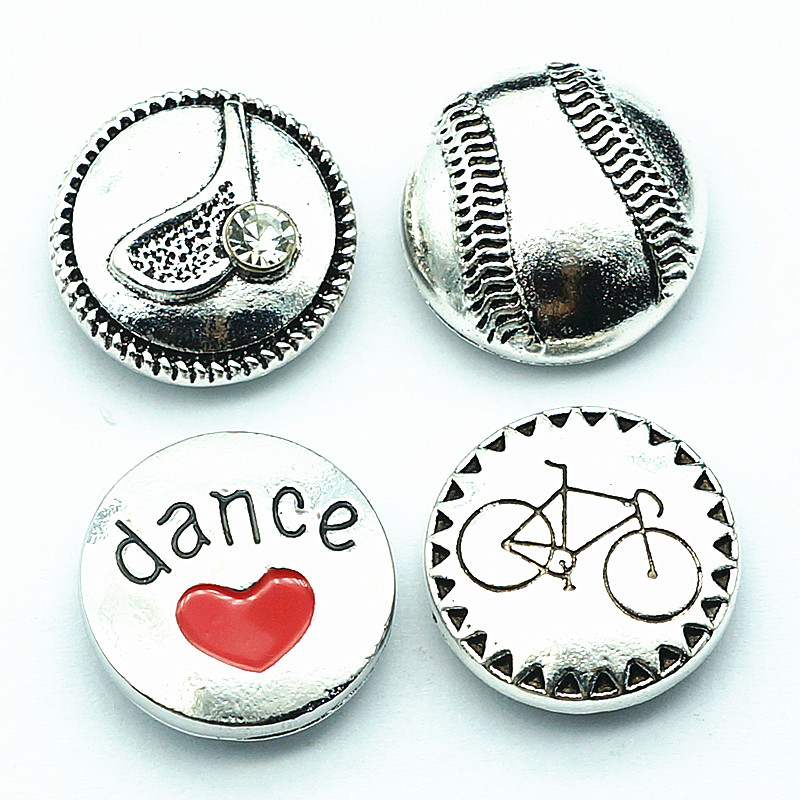 New KZ1385 Beauty golf tennis dance bicycle sports 18MM snap buttons fit 18mm snap jewelry wholesale