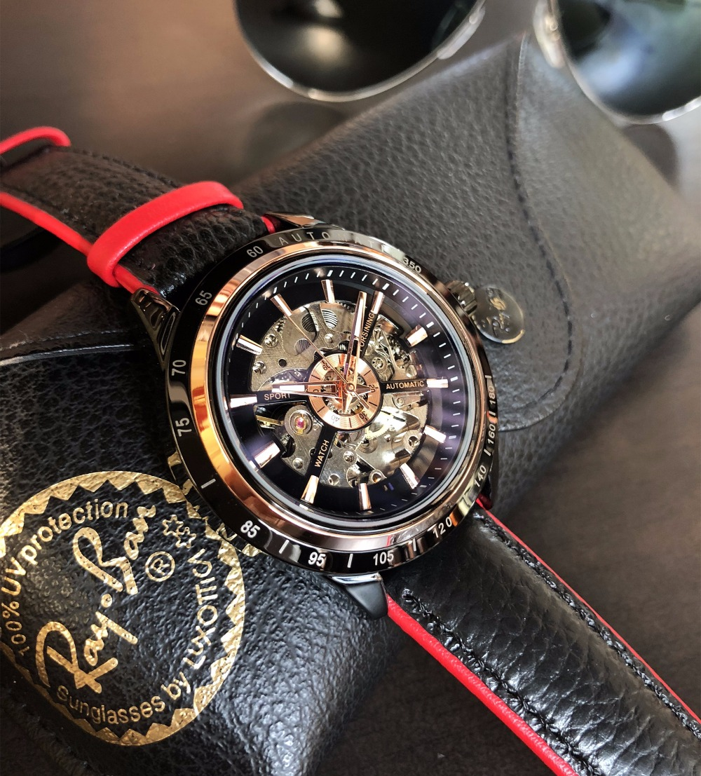 HTB18ZSrhgoQMeJjy0Foq6AShVXaL Forsining Motorcycle Design Genuine Black Belt Waterproof Skeleton Men Automatic Watches Top Brand Luxury Mechanical Male Clock