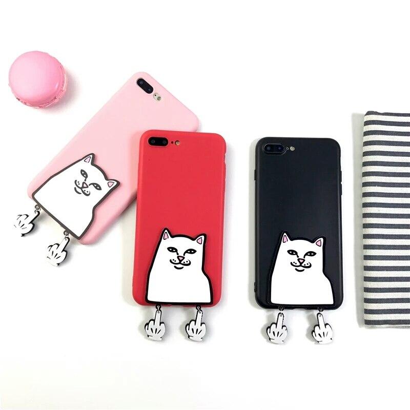 Xingyuanke 3D Забавный мультфильм средний палец Обложка Cat для <font><b>Samsung</b></font> Galaxy <font><b>J7</b></font> 2017 J720 случае Американская версия милые силиконовые Коке