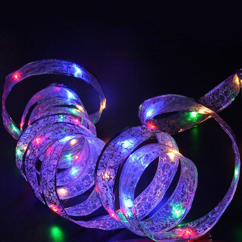 4 м светодиодный рождественских каникул светодиодный свет Батарея Мощный светодиодный строки для дома и сада вечерние украшения лампа с 40 светодиодный лампы