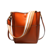 241b1fcb45 2018 Retro Cowhide Leather Oil Wax Shopping Style Shoulder Bag Large  Capacity Bucket Bag with Wide Strap Women Handbag OL