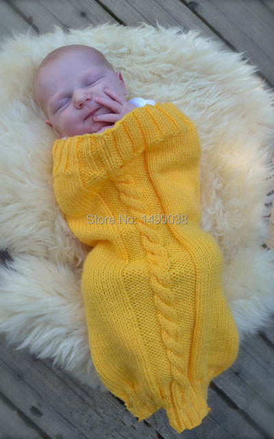 newborn baby knitted cocoon sleep sack photography prop