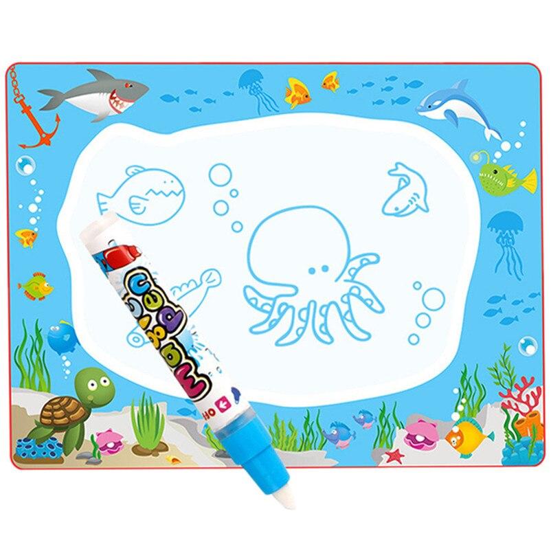 Недавно Детский рисунок игрушки ребенок добавить воды с Magic Pen Doodle картина воды игровой коврик Рисунок Игрушки Совет 64*48 см P5