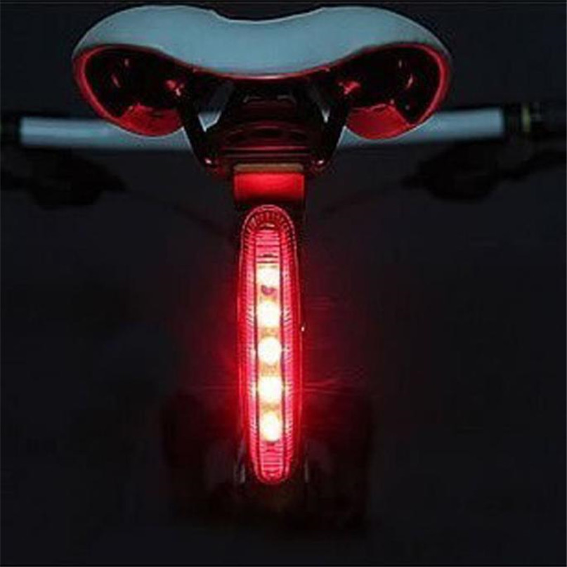 Battery Rechargeable Bicycle Rear Light Cycling LED Taillight Waterproof MTB Road Bike T ...