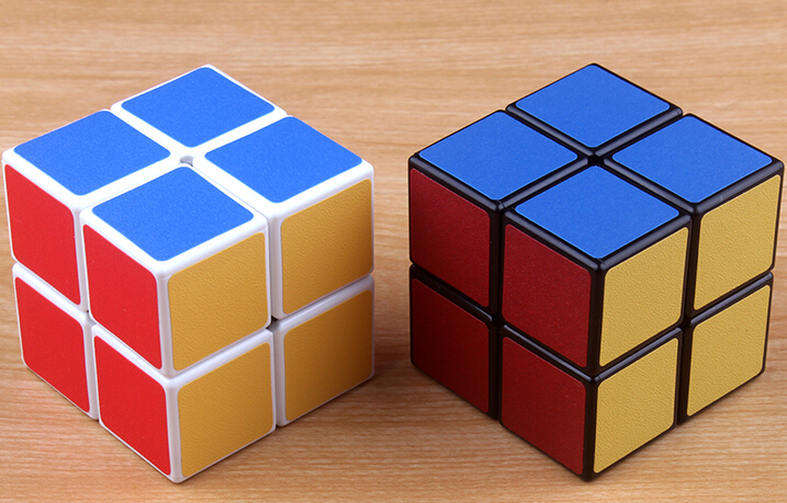 White Shengshou Speed 2x2x2 Magic Pocket Cube Spring Adjustable Texture Sticker