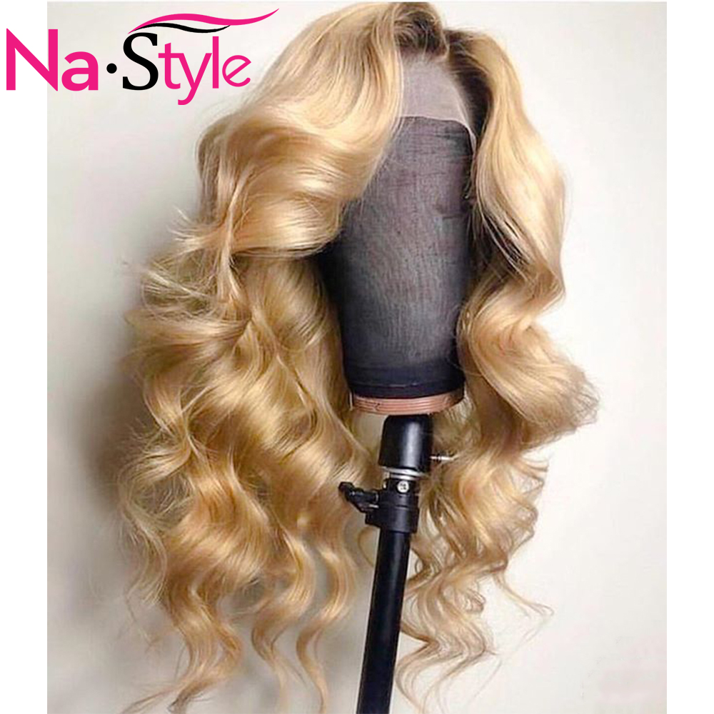 HD 613 360 Lace Frontal Human Hair Wigs For Black Roots 613 Brazilian Body Wave Wig Pre Plucked 360 Transparent Lace Wigs Remy