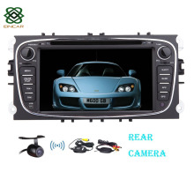 "Wireless Reverse Camera  Android 7"" GPS  Car DVD 2 din audio radio for Focus/Mondeo with Bluetooth+WiFi+Canbus+iPod"